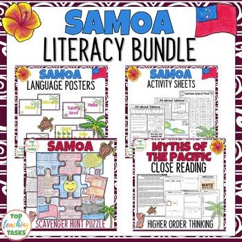 Samoa Reading Writing Thinking and Classroom Display Bundle
