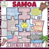 Samoa Scavenger Hunt Puzzle Activity