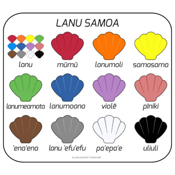 Samoan teaching resources teachers pay teachers samoan colors colors in samoan high resolution m4hsunfo