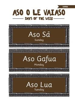Samoan Days of the Week