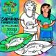Samoan Family Feast Clip Art