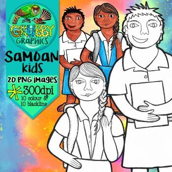 Samoan Kids Clip Art
