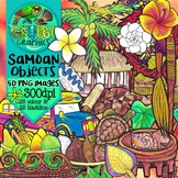 Samoan Objects Clip Art {Polynesian Themed}