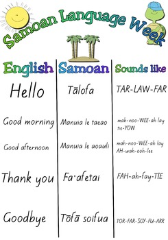 Samoan language week teaching resources teachers pay teachers samoan language week free a3 poster m4hsunfo