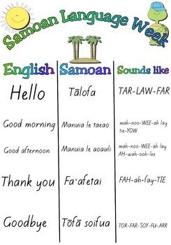 Samoan language week - FREE A3 poster.