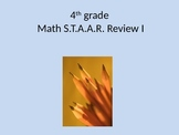Sample 4th grade Math STAAR Review I