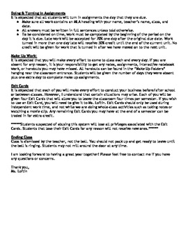 Sample 7th Grade Geography Syllabus