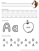 Sample: A, B, C Letter Identification & Writing Worksheets
