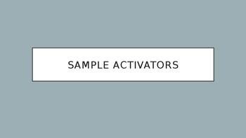 Sample Activators