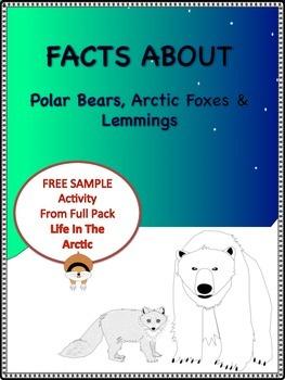 """Sample Activity From """"Life In The Arctic""""  Polar Bears, Ar"""