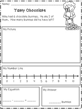 Sample Addition & Subtraction Story Problems