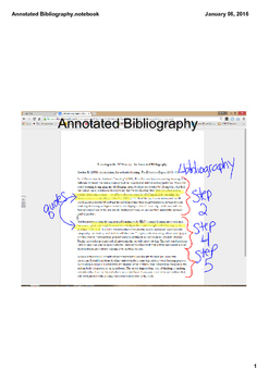 Sample Annotated Bibliography with Diagram