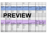 Sample School Counseling Annual Calendar & GES/ASCA Standa