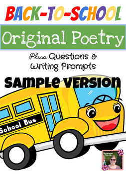 Sample-Back to School Poem Unit with Inferencing Questions + Writing Prompts
