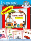 Sample - Bingo game in Spanish - La Escuela project