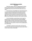 Sample Book Club Opinion Writing