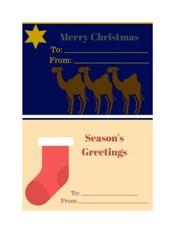 Sample Christmas Cards