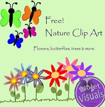 Sample Clip Art: Butterflies, Flowers, Nature