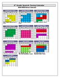 Sample Curriculum Pacing Calendar
