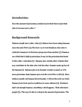 Sample Draft for Science Paper