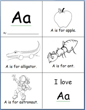 Sample Easy Alphabet Book: Letter A