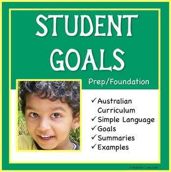 FREE Sample Distance Learning Goals for the Aus Curriculum - Prep/Foundation