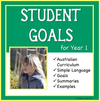 Sample Education Goals for the Australian Curriculum - Year 1