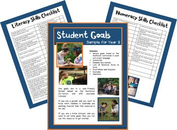 Sample Distance Learning Education Goals: Aus Curriculum - Year 7 & 8 Bundle