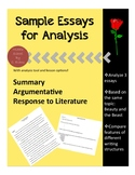 Sample Essays for Analysis