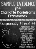 Sample Evidence for Charlotte Danielson Framework (Summative Evaluation)