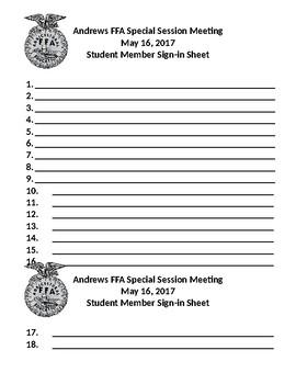 member sign in sheet