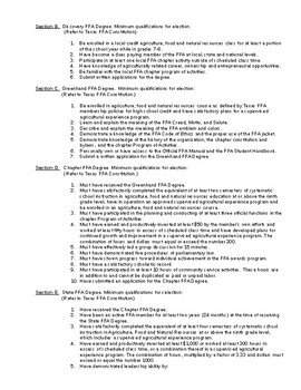 Sample FFA Chapter Constitution and Bylaws