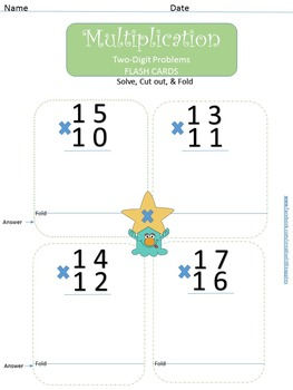 Sample FREEBIE! Multiplication- 4th Grade- CC Aligned. (4 NBT.B.5)