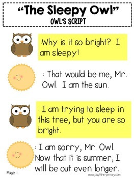 Sample FREEBIE!  Original Reader's Theater Play for Literacy Centers