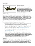 Sample Fifth Grade Introduction Letter to Parents