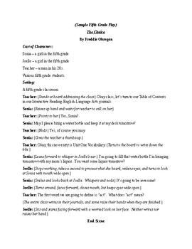 Sample Fifth-Grade Play
