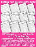 Fables Literature Close Reading 4 Levels Common Core Aligned Text Based Question