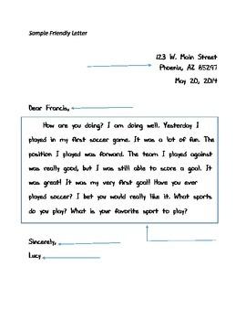 Sample Friendly Letter