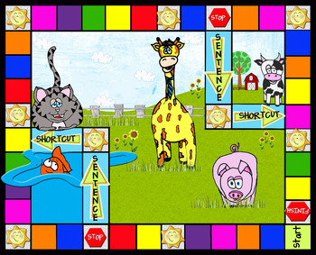 Sample Game board for Sam the pig reading game