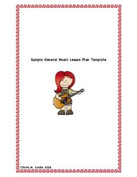 ... Sample General Music Lesson Plan Template For Nursery/Pre K/K