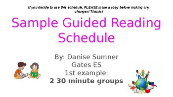 Sample Guided Reading Stations, Rotations, and Schedule