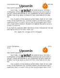 Sample Halloween Party letter to Parents