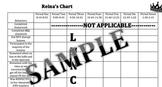 Sample Individual Daily Behavior Chart