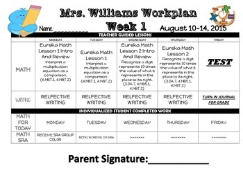 Sample Individualized Student Workplan