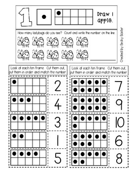 Sample-- Interactive Math Journals for Pre-K