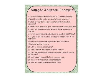 Journal Prompts (Sample)