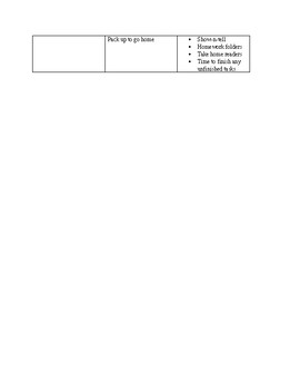 Sample Kindergarten Daily activities