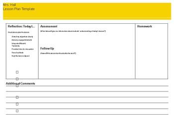 Sample Lesson Plan Template