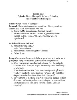Sample Lesson--Traveling Through History with Doctor Who