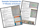 Launching Lesson Plans for 1st Weeks of School - Charts and Pictures INCLUDED!